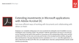 Extending investments in Microsoft applications with Adobe Acrobat DC